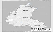 Gray Panoramic Map of Champagne-Ardenne, single color outside
