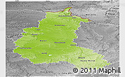 Physical Panoramic Map of Champagne-Ardenne, desaturated