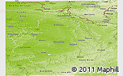 Physical Panoramic Map of Champagne-Ardenne