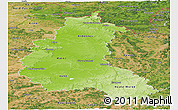 Physical Panoramic Map of Champagne-Ardenne, satellite outside