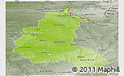 Physical Panoramic Map of Champagne-Ardenne, semi-desaturated