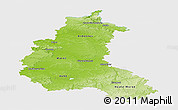 Physical Panoramic Map of Champagne-Ardenne, single color outside