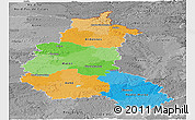 Political Panoramic Map of Champagne-Ardenne, desaturated