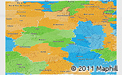 Political Panoramic Map of Champagne-Ardenne
