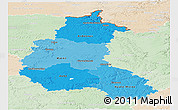 Political Shades Panoramic Map of Champagne-Ardenne, lighten