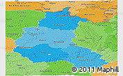 Political Shades Panoramic Map of Champagne-Ardenne