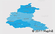 Political Shades Panoramic Map of Champagne-Ardenne, single color outside
