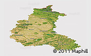 Satellite Panoramic Map of Champagne-Ardenne, cropped outside