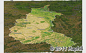 Satellite Panoramic Map of Champagne-Ardenne, darken