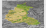 Satellite Panoramic Map of Champagne-Ardenne, desaturated