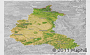 Satellite Panoramic Map of Champagne-Ardenne, lighten, desaturated