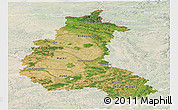 Satellite Panoramic Map of Champagne-Ardenne, lighten