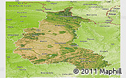 Satellite Panoramic Map of Champagne-Ardenne, physical outside