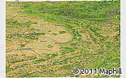 Satellite Panoramic Map of Champagne-Ardenne