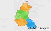 Political Simple Map of Champagne-Ardenne, cropped outside