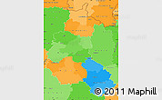 Political Simple Map of Champagne-Ardenne, political shades outside
