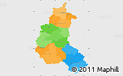 Political Simple Map of Champagne-Ardenne, single color outside