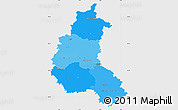 Political Shades Simple Map of Champagne-Ardenne, single color outside
