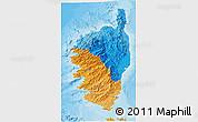 Political 3D Map of Corse