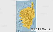 Savanna Style 3D Map of Corse
