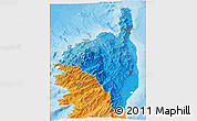 Political Shades 3D Map of Haute-Corse