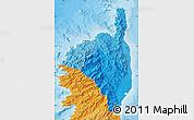 Political Shades Map of Haute-Corse