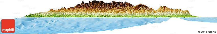 Physical Horizon Map of Corse