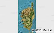 Satellite Map of Corse