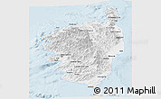 Classic Style Panoramic Map of Corse