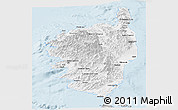 Gray Panoramic Map of Corse
