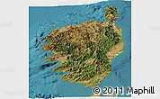 Satellite Panoramic Map of Corse