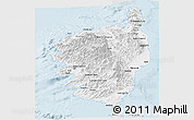 Silver Style Panoramic Map of Corse
