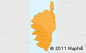 Political Shades Simple Map of Corse