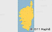 Savanna Style Simple Map of Corse