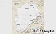 Classic Style 3D Map of Franche-Comté