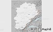 Gray 3D Map of Franche-Comté