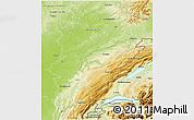 Physical 3D Map of Franche-Comté