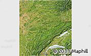 Satellite 3D Map of Franche-Comté