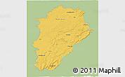 Savanna Style 3D Map of Franche-Comté, single color outside