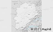 Silver Style 3D Map of Franche-Comté