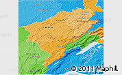 Political Shades 3D Map of Doubs