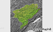 Satellite Map of Doubs, desaturated