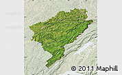 Satellite Map of Doubs, lighten