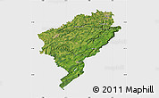 Satellite Map of Doubs, single color outside