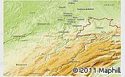 Physical 3D Map of Montbéliard
