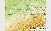 Physical Map of Montbéliard