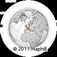 Outline Map of Montbéliard