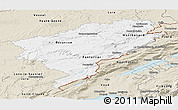 Classic Style Panoramic Map of Doubs