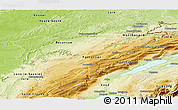 Physical Panoramic Map of Doubs
