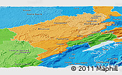 Political Shades Panoramic Map of Doubs